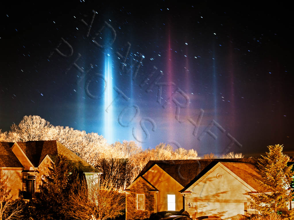 Light Pillars and Northern Lights