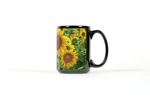 Sunflower mug right view